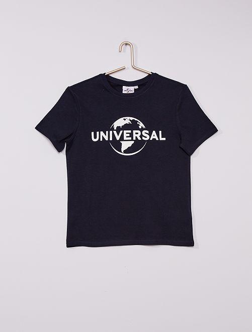 T-shirt en jersey 'Universal'                             BLEU