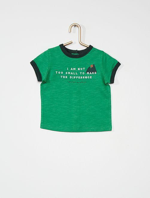 T-shirt en jersey                                         vert