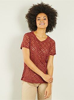 T-shirt en macramé - Kiabi