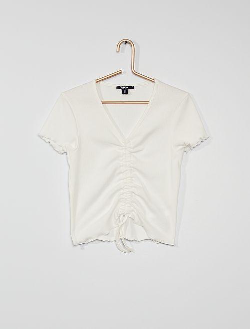 T-shirt en maille                                                     blanc