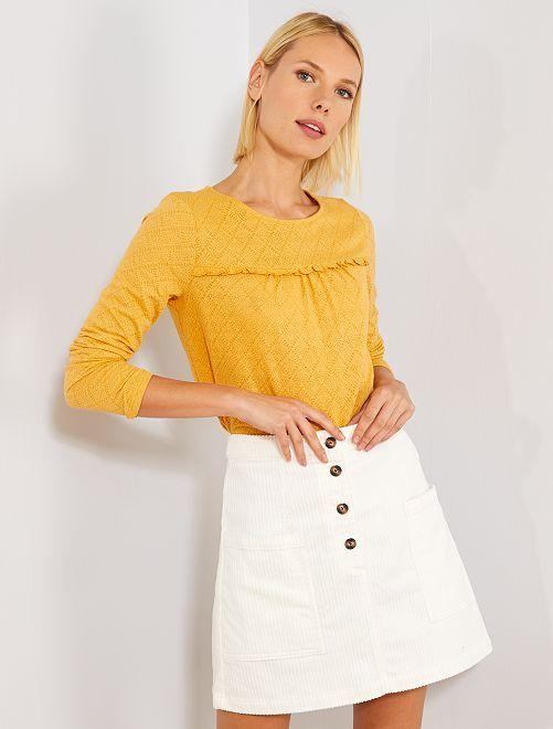 T-shirt en maille fantaisie                                                                 jaune