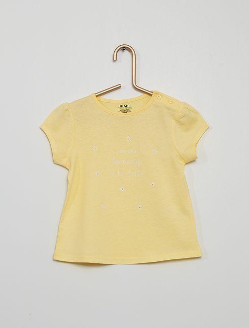 T-shirt en maille jersey                                                                                                     jaune
