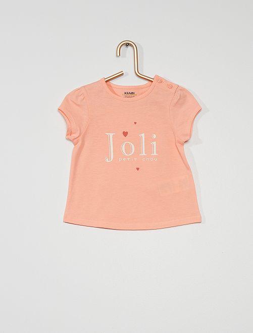 T-shirt en maille jersey                                                                                                     ROSE