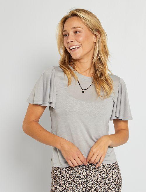 T-shirt en maille made in France                                                     gris