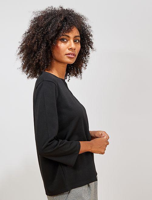 T-shirt en maille milano                                                                 noir