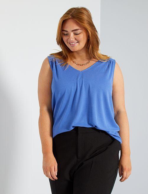 T-shirt en modal                                                                                                                                                     bleu