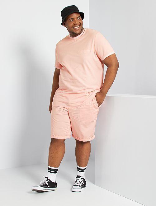 T-shirt en piqué de coton                                         rose