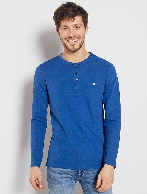 T-shirt en piqué 'éco-conception'                                                                                         bleu