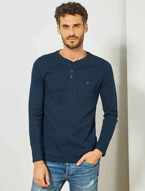 T-shirt en piqué 'éco-conception'                                                                             bleu marine