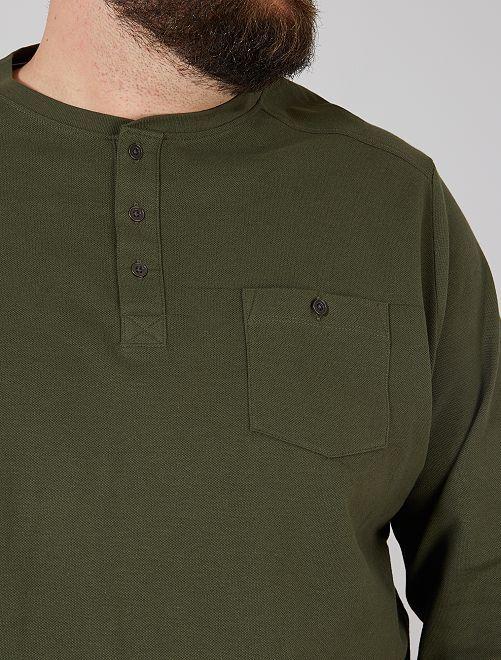 T-shirt en piqué Eco-conception                                         vert thym