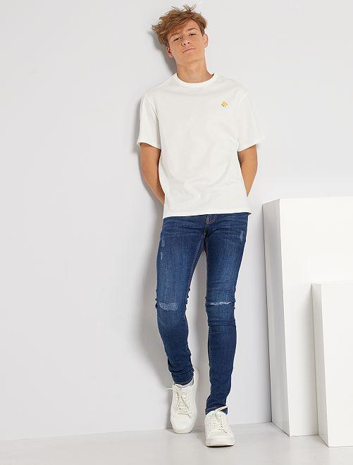 T-shirt en pur coton éco-conçu                                                                                                     blanc cassé