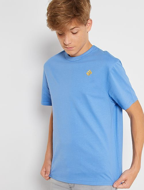 T-shirt en pur coton éco-conçu                                                                                                     bleu clair