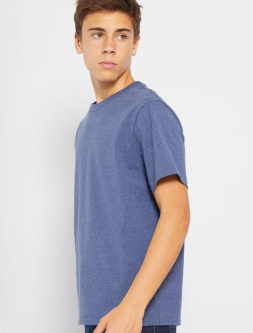 T-shirt en pur coton éco-conçu                     bleu