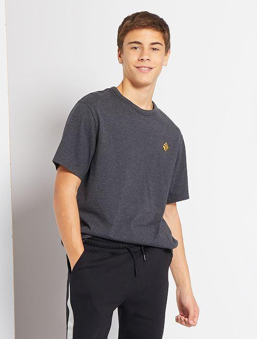 T-shirt en pur coton éco-conçu                                                                                                     gris