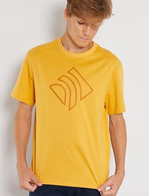 T-shirt en pur coton éco-conçu                                                                                         jaune