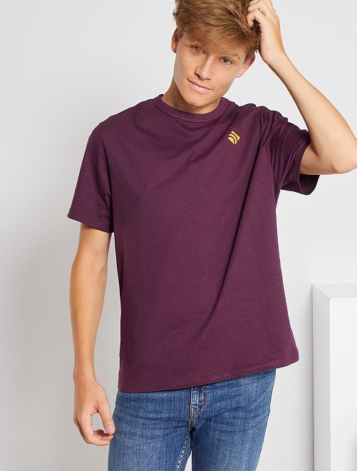T-shirt en pur coton éco-conçu                                                                                                     violet