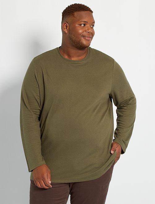T-shirt épais manches longues                                                     kaki