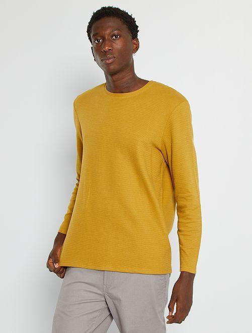 T-shirt épais manches longues                                                     moutarde