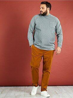 Grande taille homme T-shirt épais molleton léger