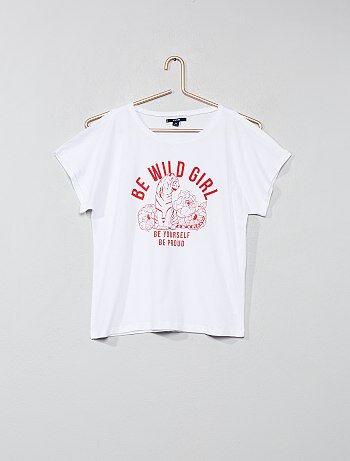 T-shirt épaules ajourées