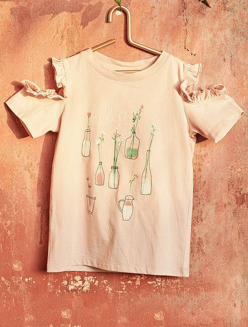 T-shirt épaules dénudées                             rose Fille