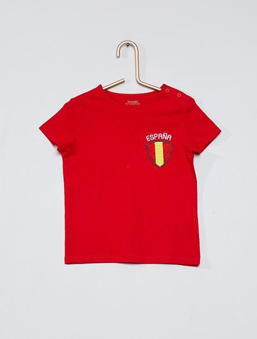 T-shirt 'Espagne' 'eco-conception'                                         rouge