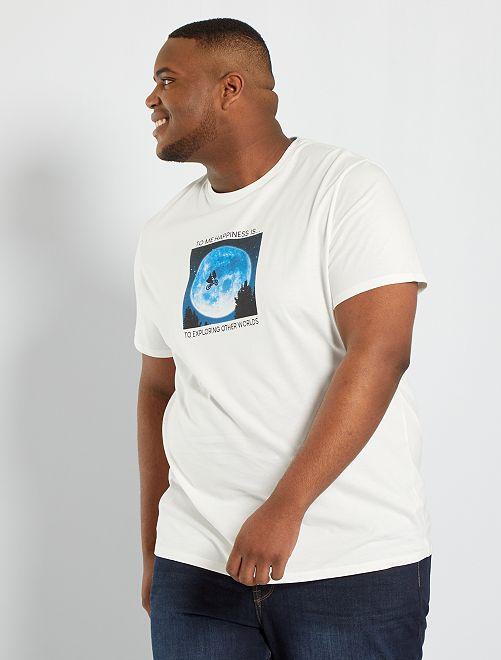 T-shirt 'E.T' éco-conçu                             blanc