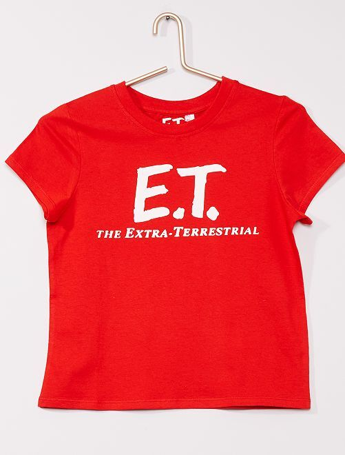 T-shirt 'E.T., l'extra-terrestre'                             rouge