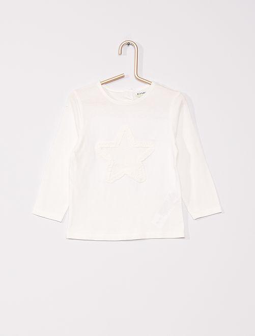 T-shirt 'étoile' éco-conçu                                                     blanc