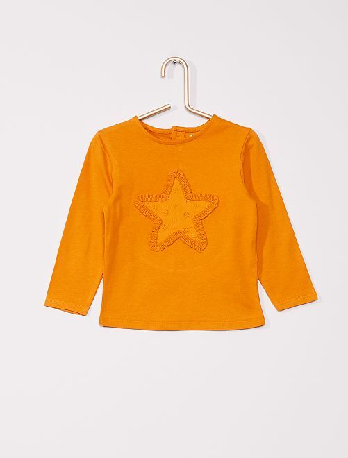 T-shirt 'étoile' éco-conçu                                                     orange