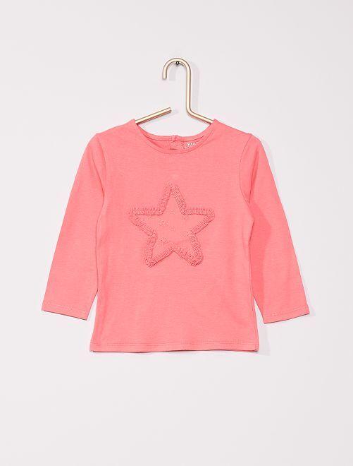 T-shirt 'étoile' éco-conçu                                                     rose