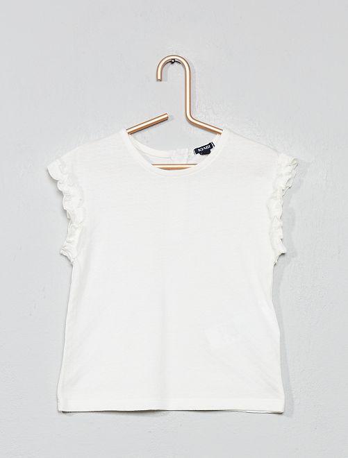 T-shirt fantaisie                             blanc