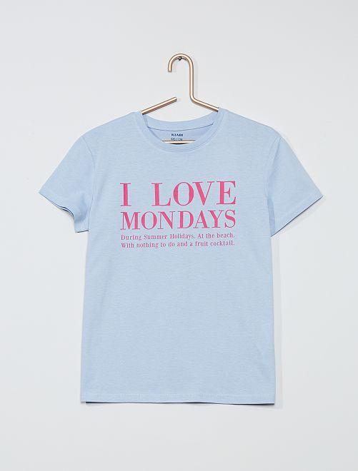 T-shirt fantaisie                                                                                                                                                                             bleu