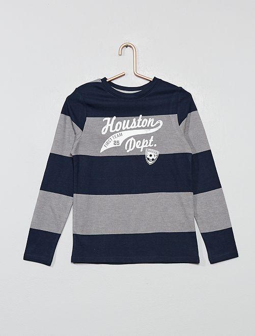T-shirt fantaisie 'éco-conception'                                                                                                     marine/gris