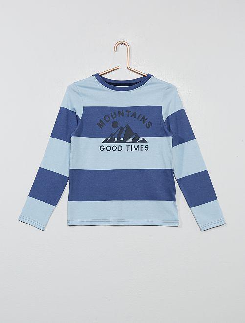 T-shirt fantaisie éco-conçu                                                         bleu