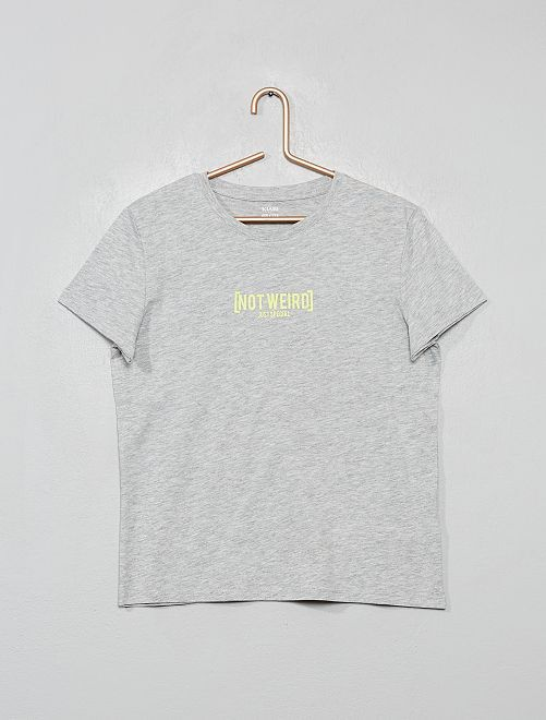 T-shirt fantaisie                                                                                                         gris chiné