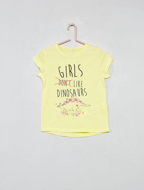 T-shirt fantaisie                                                                 jaune fluo Fille