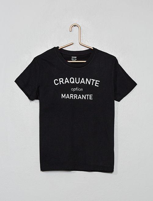 T-shirt fantaisie                                                                                                                                         noir/craquante