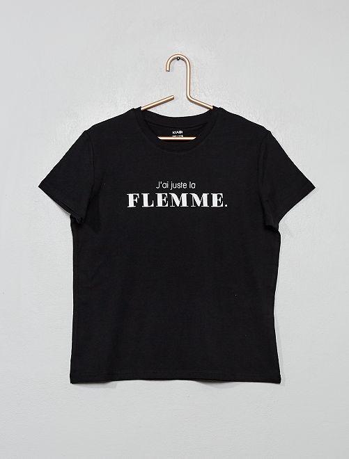 T-shirt fantaisie                                                                                                                 noir/flemme