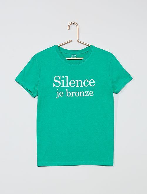T-shirt fantaisie                     vert
