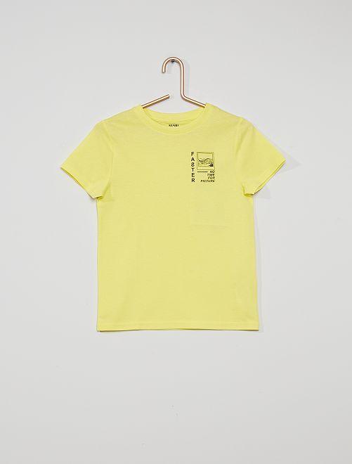 T-shirt 'faster'                                                                                                                                                                 jaune fast