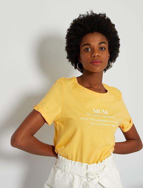 T-shirt fête des mères                                                                 jaune