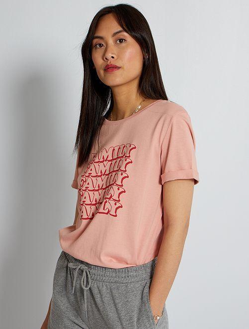 T-shirt fête des mères                                                                 vieux rose