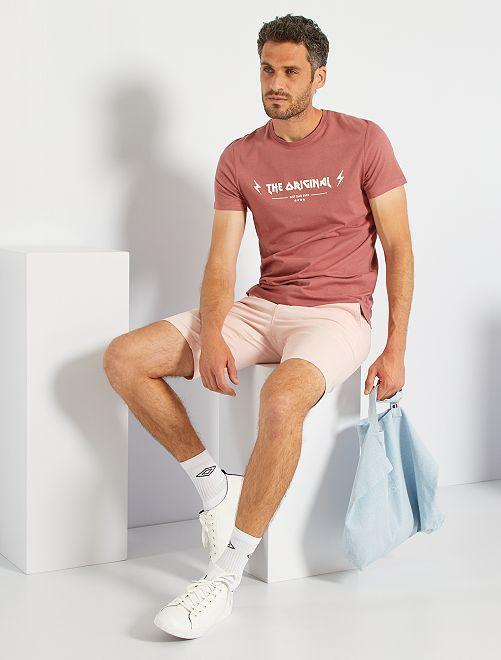 T-shirt fête des pères                                         vieux rose