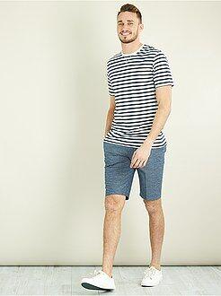 Homme de plus d'1m90 - T-shirt fitted rayé +1m90 - Kiabi