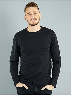 T-shirt fitted uni en coton +1m90