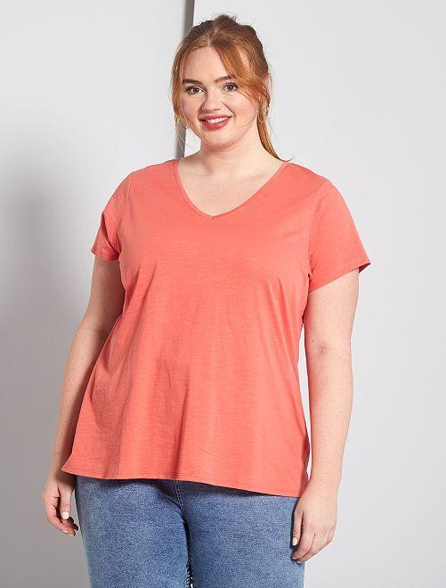 T-shirt flammé 'éco-conception'                                                                                         rose orangé