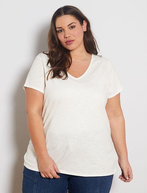 T-shirt flammé éco-conçu                                                                                 blanc