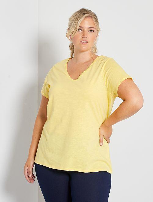 T-shirt flammé éco-conçu                                                                 jaune mimosa
