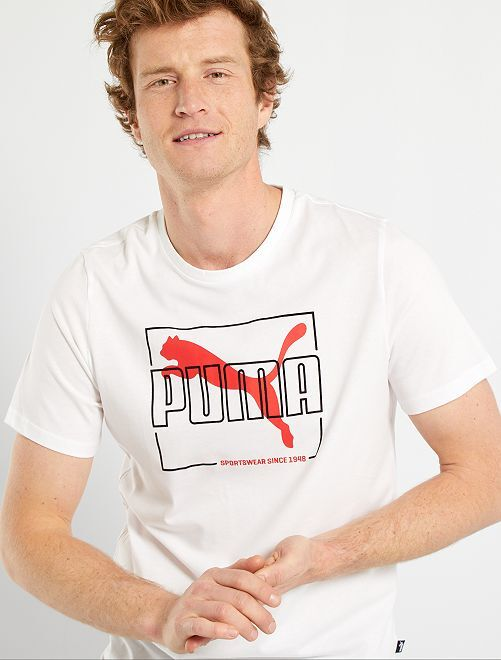 T-shirt floqué 'Puma'                             blanc